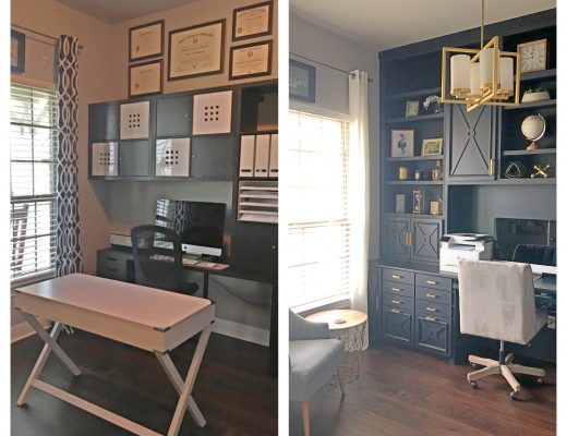 authentically amber diy home office makeover renovation