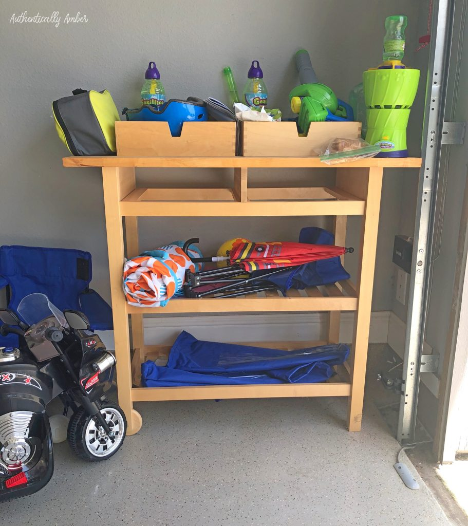 authentically amber diy kids garage cart