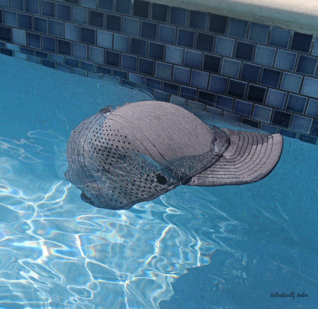 authentically amber melin hydro hat run swim cap