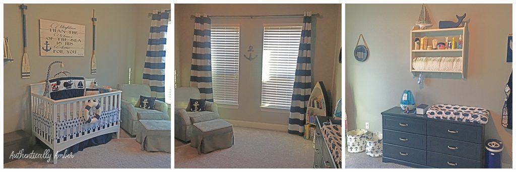 authentically amber nautical themed nursery baby room