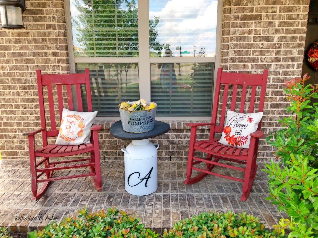 authentically amber diy fall decor porch decorations