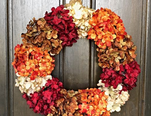 authentically amber diy fall hydrangea floral wreath