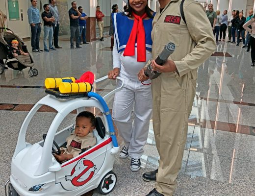 authentically amber diy halloween family costumes toddler parent ghostbusters